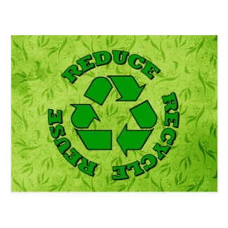 Reduce Recycle Reuse Postcard