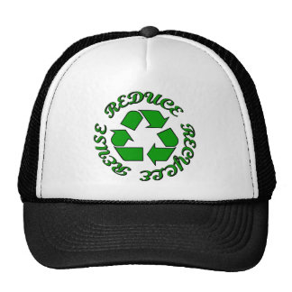 Reduce Recycle Reuse Trucker Hat