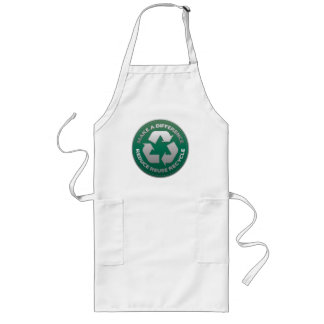 Reduce, Reuse and Recycle Stitch Long Apron
