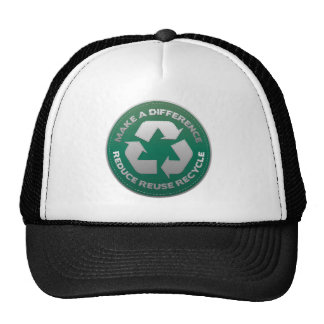 Reduce Reuse and Recycle Stitch Mesh Hat