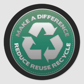 Reduce, Reuse and Recycle Stitch Classic Round Sticker