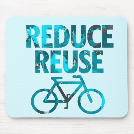 Reduce Reuse Bicycle Mouse Pad