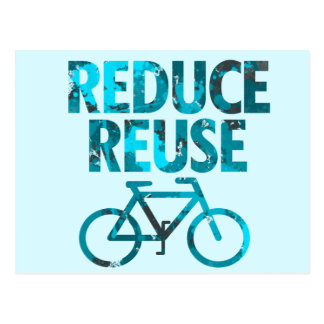 Reduce Reuse Bicycle Postcard