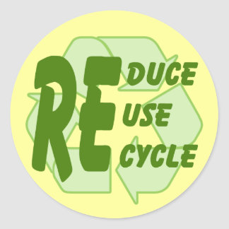 Reduce ReUse Recycle 2 Sticker