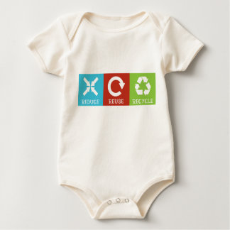 Reduce Reuse Recycle Baby Bodysuit