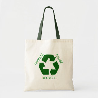 Reduce, Reuse, Recycle Budget Tote Bag