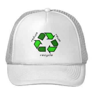 Reduce Reuse Recycle Cap Trucker Hat