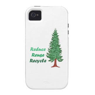 REDUCE REUSE RECYCLE iPhone 4/4S COVER