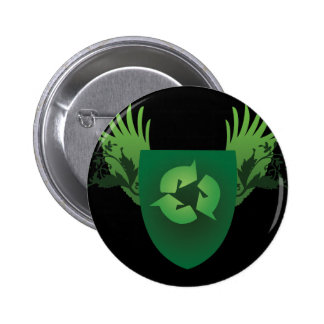 Reduce Reuse Recycle Crest Pinback Button