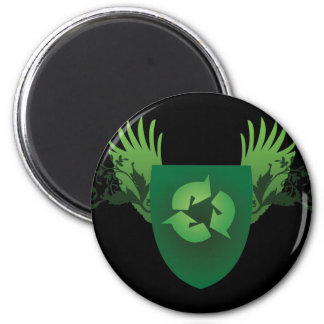 Reduce Reuse Recycle Crest Magnet