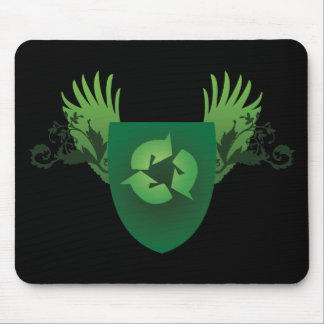 Reduce Reuse Recycle Crest Mouse Pad