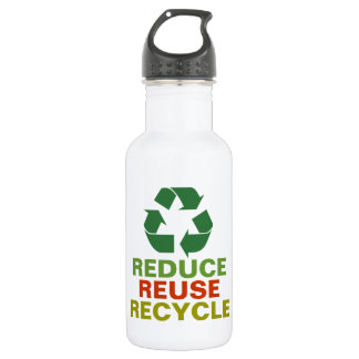 Reduce Reuse Recycle Earth Day Aluminum Bottle