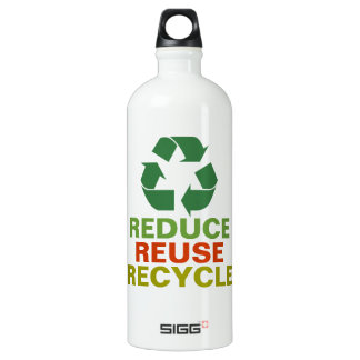 Reduce Reuse Recycle Earth Day Aluminum Bottle SIGG Traveler 1.0L Water Bottle