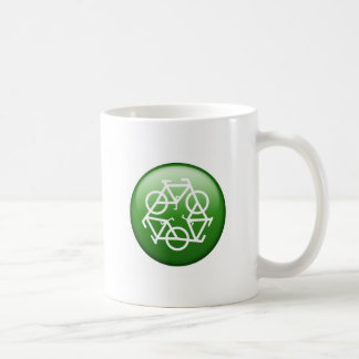 Reduce Reuse Recycle Green Bicycle Coffee Mug