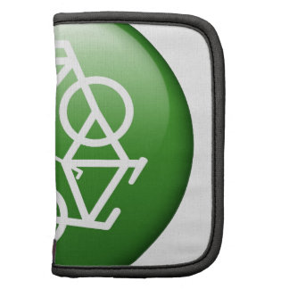 Reduce Reuse Recycle Green Bicycle Folio Planners