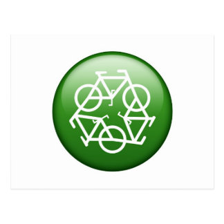 Reduce Reuse Recycle Green Bicycle Postcard