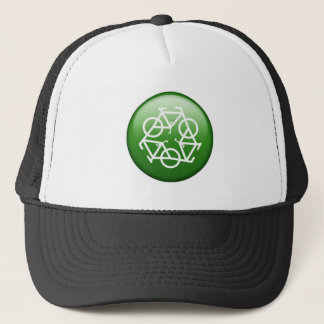 Reduce Reuse Recycle Green Bicycle Trucker Hat
