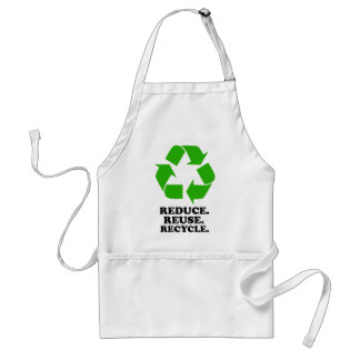 Reduce Reuse Recycle - Green Living Apron