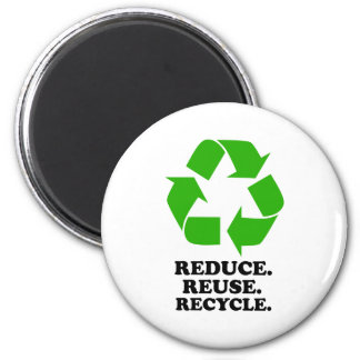 Reduce, Reuse, Recycle - Green Living Fridge Magnet