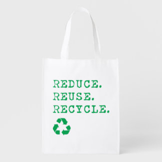 Reduce.Reuse.Recycle. Grocery Bag