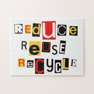 Reduce Reuse Recycle Jigsaw Puzzle