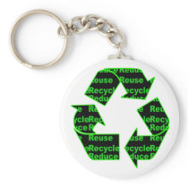 reduce reuse recycle keychain