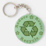 Reduce Reuse Recycle Keychains