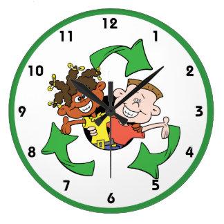 Reduce Reuse Recycle Kids Clocks