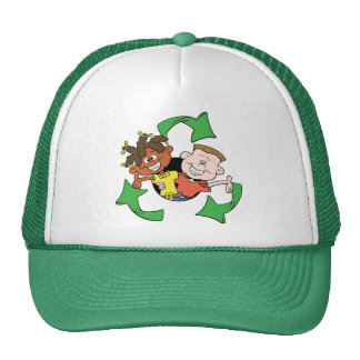 Reduce Reuse Recycle Kids Trucker Hat