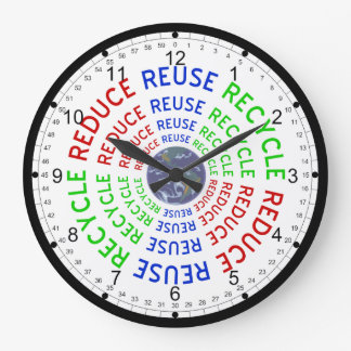 Reduce, Reuse, Recycle Large Clock