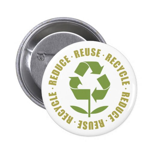 Reduce Reuse Recycle [logo] 2 Inch Round Button