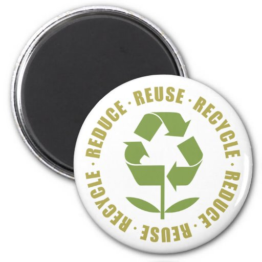 Reduce Reuse Recycle [logo] 2 Inch Round Magnet