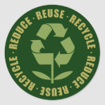 Reduce Reuse Recycle [logo] Round Sticker