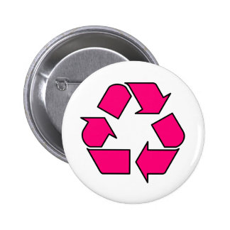 Reduce Reuse Recycle Logo Symbol Arrow 3R 2 Inch Round Button