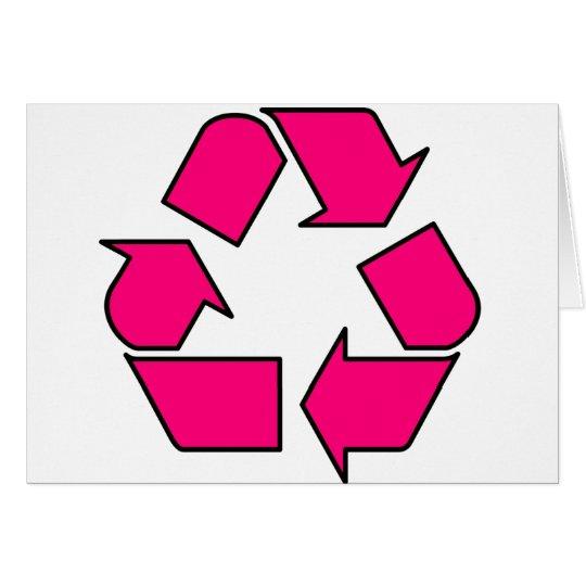 Reduce Reuse Recycle Logo Symbol Arrow 3R Card