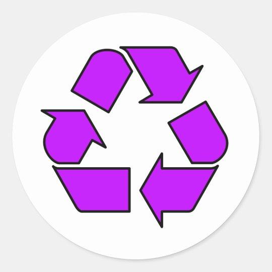 Reduce Reuse Recycle Logo Symbol Arrow 3R Classic Round Sticker