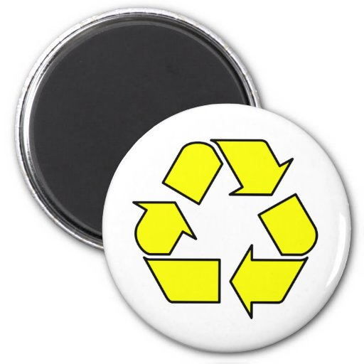 Reduce Reuse Recycle Logo Symbol Arrow 3R 2 Inch Round Magnet