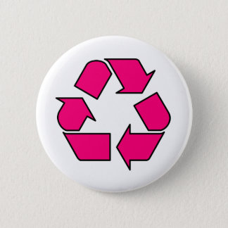 Reduce Reuse Recycle Logo Symbol Arrow 3R Pinback Button