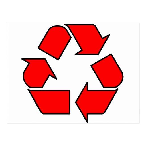 Reduce Reuse Recycle Logo Symbol Arrow 3R Post Card