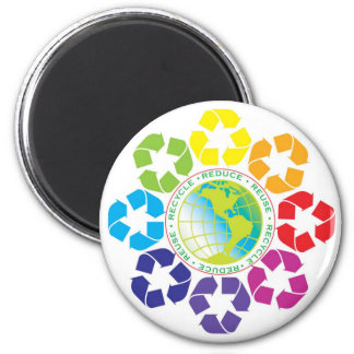 Reduce, Reuse, Recycle Magnet