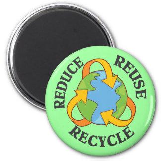 Reduce Reuse Recycle Fridge Magnet