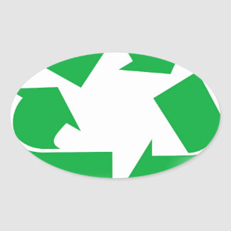 Reduce Reuse Recycle Oval Sticker