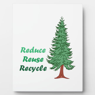 REDUCE REUSE RECYCLE DISPLAY PLAQUE