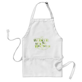 REDUCE REUSE RECYCLE png Aprons