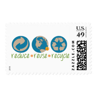 Reduce, Reuse, Recycle Postage