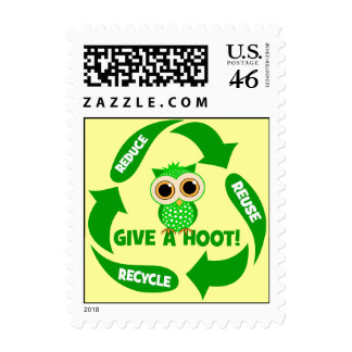 reduce reuse recycle postage stamps