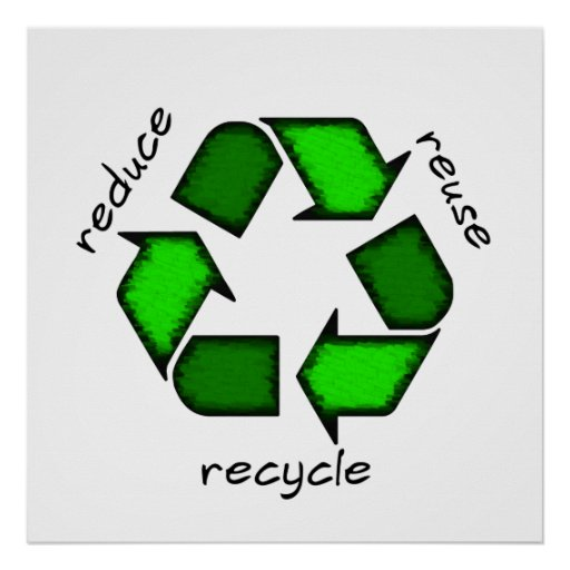 Reduce, Reuse Recycle Poster | Zazzle.com