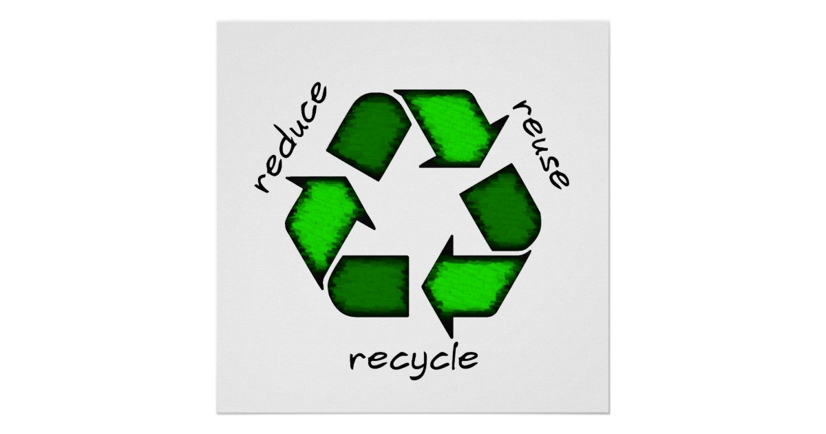 Reduce Reuse Recycle Poster Zazzle Com