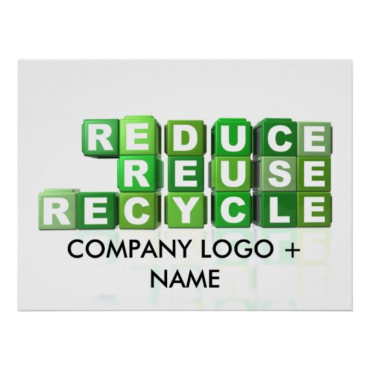REDUCE - REUSE - RECYCLE POSTER