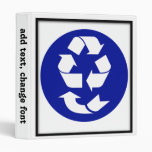Reduce Reuse Recycle Recover Symbol (4 Rs) Vinyl Binder